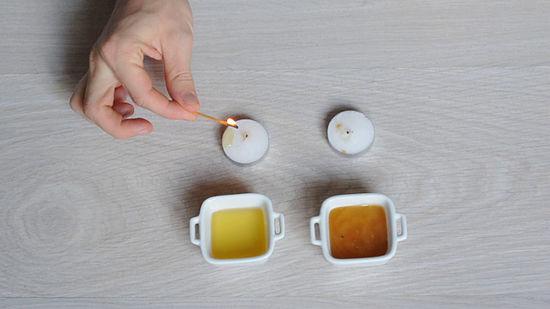 تشخیص عسل با سوزاندن